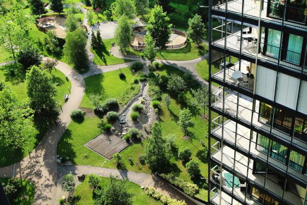 Central Park Praha - vnitřní park
